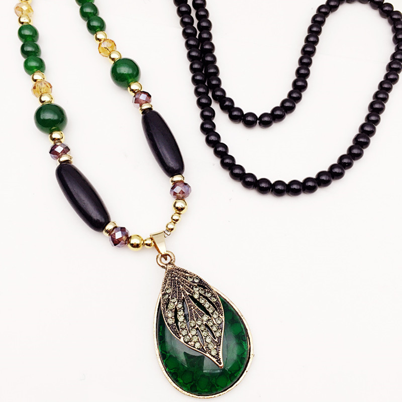 Dominated Long leaves beads restoring ancient ways women ...