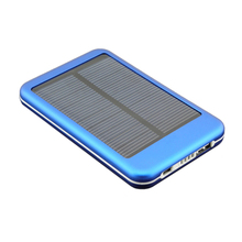 5000mAh Photo voltaic Protable Exterior Energy Financial institution Charger For Numerous Cell Cellphone, Blue