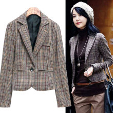 LP Womens Long Sleeve 패션 Blazer Business 스위트 블레이져 캐주얼 British Style Blazer(China)