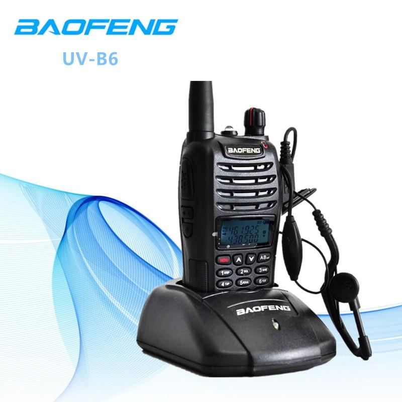 Baofeng UV-B6 5 W longue portée talkie-walkie double bande VHF/UHF deux voies Radio émetteur-récepteur Pofung UV B6 Portable Interphone FM Radio