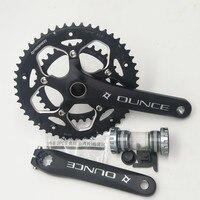 Bicycle Fixed Gear Crankset 170mm 110 BCD Mountain Bike CNC Hollow Crank Chainwheel 34 50T Bracket