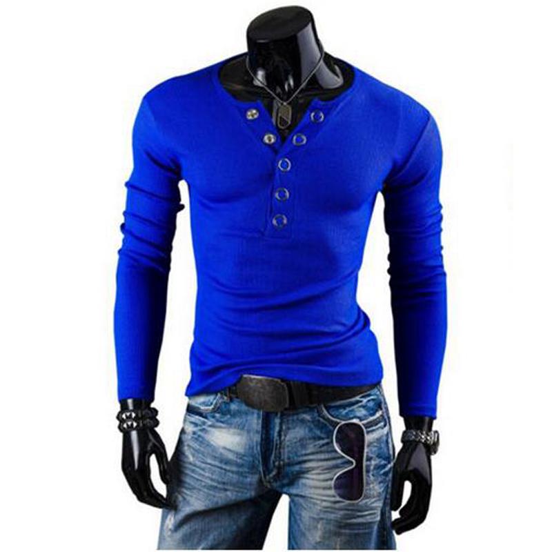 nuevo estilo four seasons fit hombres moda urbana camiseta botn decora delgado hombres pop