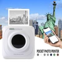 Портативный Bluetooth принтер для фотосъемки мини принтер портативные фотографии принтер для мобильного телефона Android iOS Windows PAPERANG