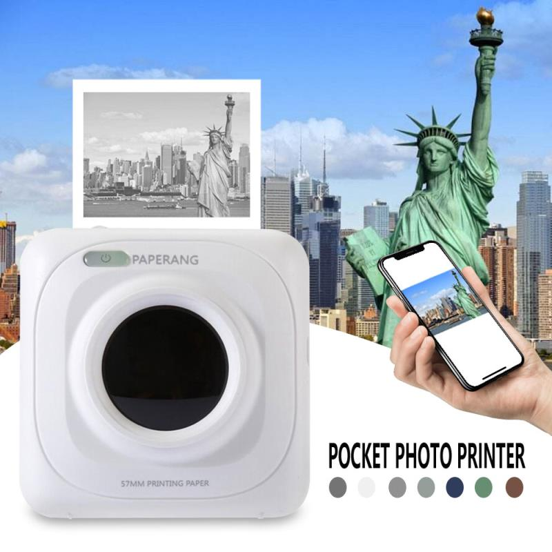 Portable Bluetooth Printer Photo Printer Mini Printer Portable Pictures Printer For Mobile Phone Android IOS Windows