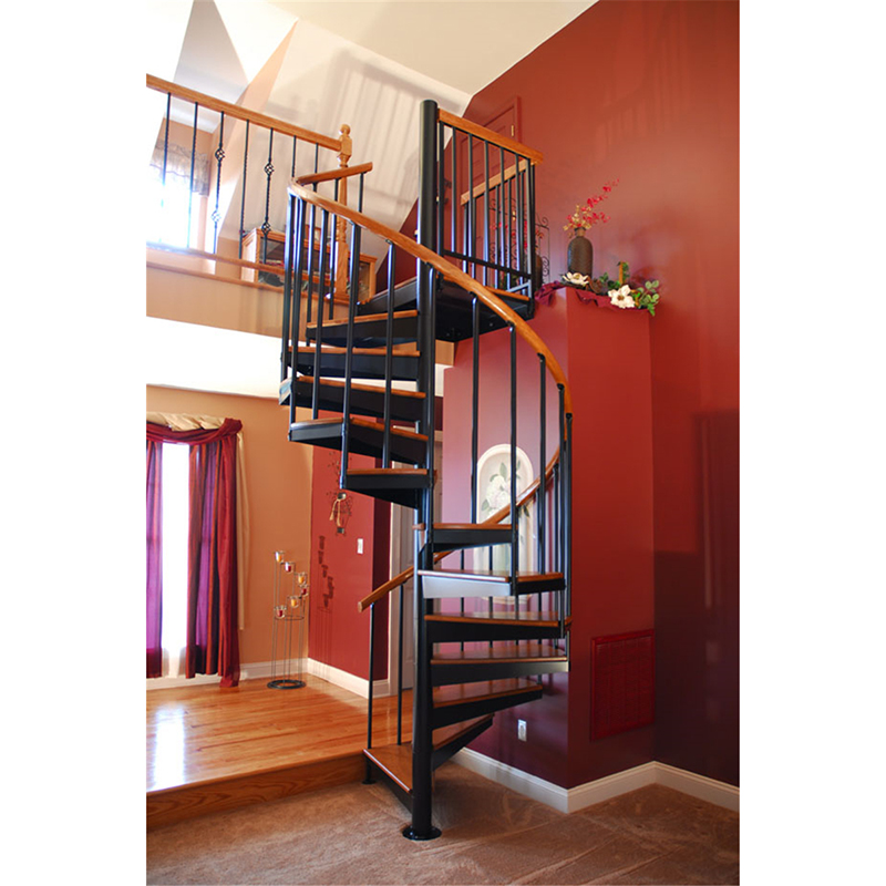 Easy Install Modern Interior Steel Wood Spiral Staircase With   Wooden Spiral Stairs Design   Interior   Curved   Space Saving   Rustic   Contemporary