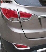 For Hyundai Tucson IX35 2010 2014 High Quality ABS Chrome Rear Taillight Lamp Hood Decoration Cover Trims Accessories 4pcs/set