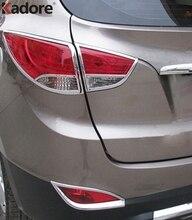 Per Hyundai Tucson IX35 2010-2014 ABS di Alta Qualità Chrome Posteriore Fanale Posteriore Della Lampada Decorazione Cappuccio Della Copertura Rifiniture Accessori 4 pz/set