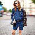 Бесплатная доставка весна лето женщин девушки европа и америка корейской мода высокая талия большой размер очень широкий джинсовые шорты джинсы