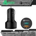 Carregador Rápido 3.0 QC2.0 AUKEY Dupla Portas USB Car Charger Para htc m8 sony xperia tablet telefone celular com 1 m de cabo do carro-carregador