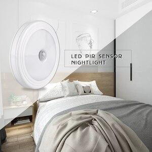Image 5 - Foxanon LED לילה אור עם PIR Motion חיישן קל להתקין אלחוטי קיר ארון מדרגות מנורת סוללה כוח עיתונות מגע תאורה