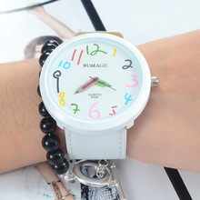waknoer WOMAGE Kids Watch Colorful Pencil Pattern Children
