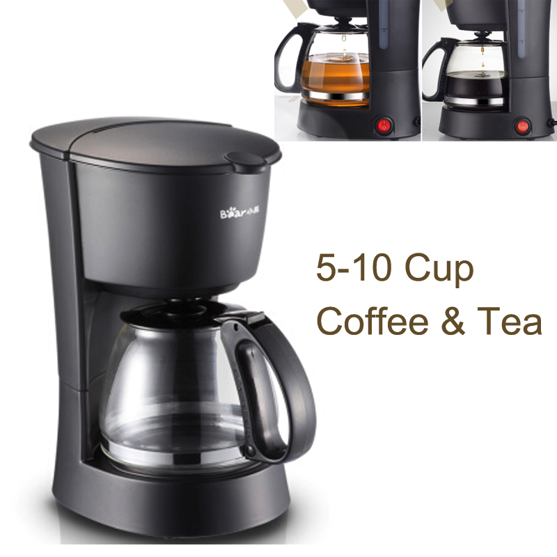 15%JA88 Full Automatic Drip Coffee Maker with Explosion-proof Coffee Pot 600ml 550W Anti-Drip American Coffee Machine 5-10 Cups small american drip coffee machine pot with full automatic drip coffee maker