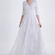 cecelle 2019 Vintage Lace Long Wedding Dresses With A-line