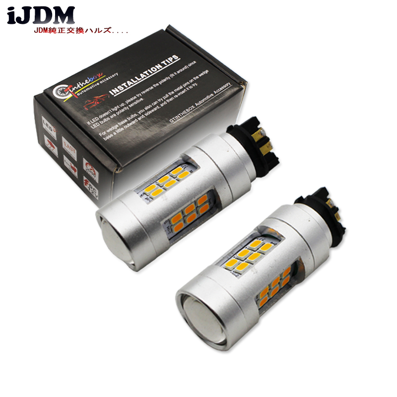 US $16 33 14% OFF| Amber Error Free PWY24W PW24W LED Bulbs For Audi A3 A4  A5 Q3 VW MK7 Golf CC Front Turn Signal Lights,For BMW F30 3 Series DRL-in