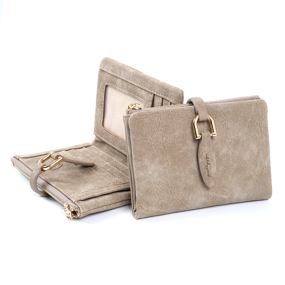 Fashion Women Short Purses PU Leather Female Wallet Perse Card Holder Coin