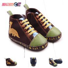 2019 Spring Autumn Canvas Toddler Baby Shoes Girls Boys First Walkers SneakersLace Newborn Moccasins 0-18M Crib