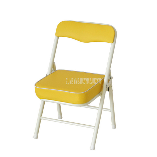 Foldable Children Chair Metal Steel Frame Sponge Filler Baby Kids Learning Writing Study Mini Low Chair For Doll House Furniture 1