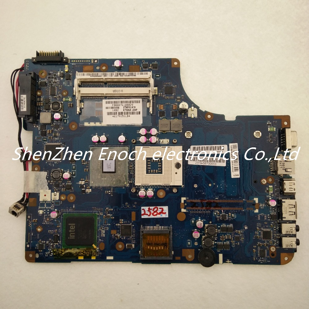 все цены на  For Toshiba Satellite L500 Laptop Motherboard Integrated K000092140 KSWAA LA-4982P DDR3 for 17 inch  LCD  stock No.999  онлайн