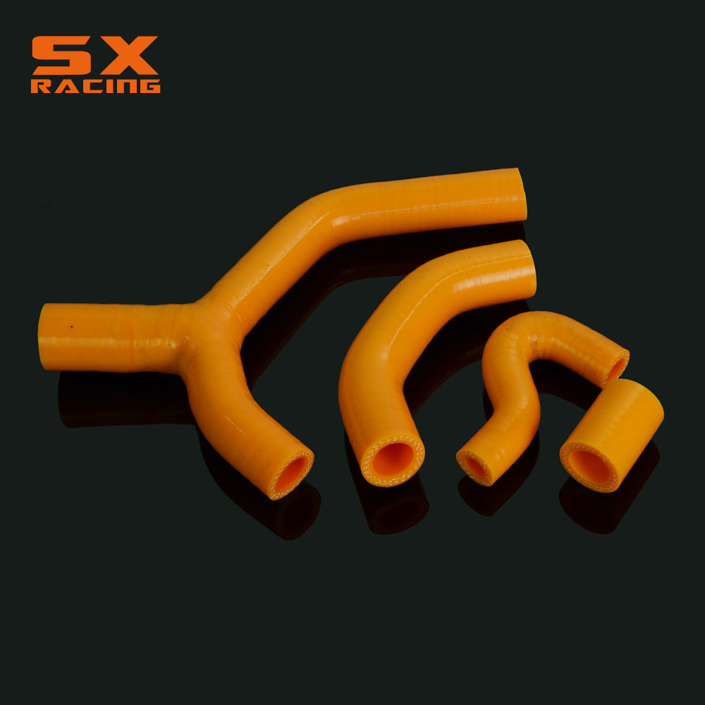 Motorcycle Orange Water Pipe Silicone Radiator Coolant Hose For KTM EXC EXCR XCW 450 2007 2008 2009 2010 2007-2010 Dirt Bike