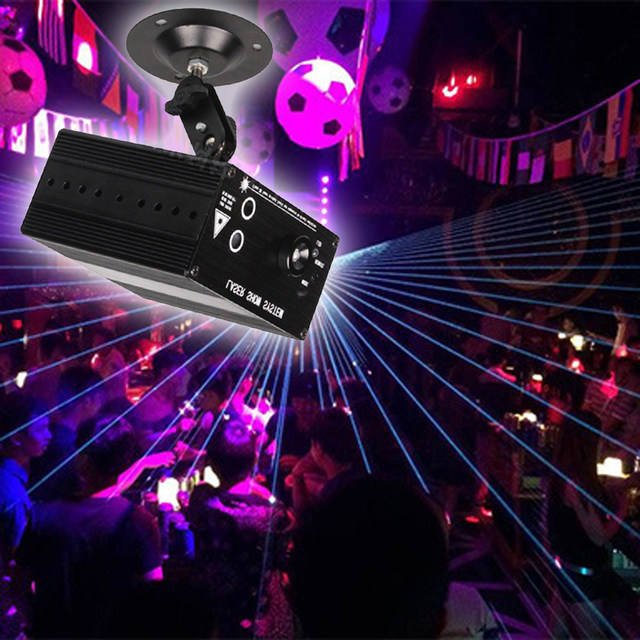 Online Shop Mini Led Rgb Home Stage Lighting Effect DMX Laser Projector With Remote Lumiere Disco Lights Dj Party Light UK Plug