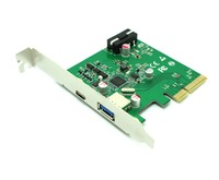 Free Shipping Superspeed PCI Express PCIe X4 Host Adapter Card Dual USB3 1 10Gbps With One