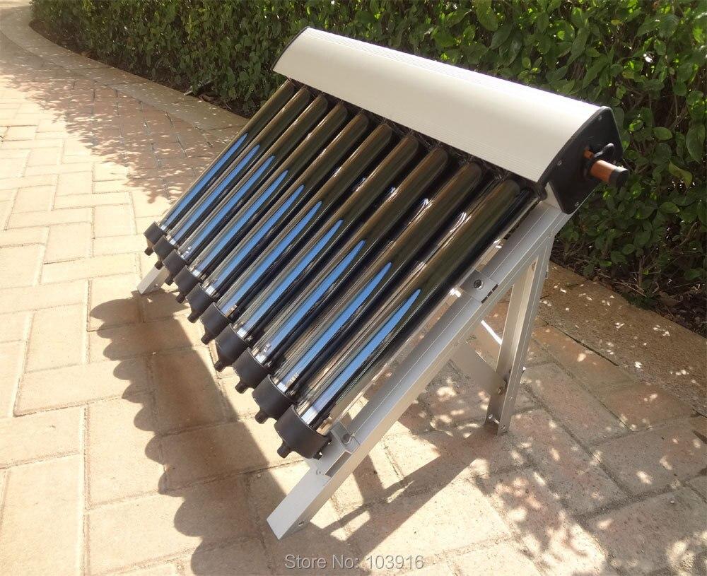 1 conjunto de Coletor Solar de Água Quente Solar Aquecedor, 10 Tubos de Vácuo, Tubos de Vácuo Da Tubulação de calor, nova