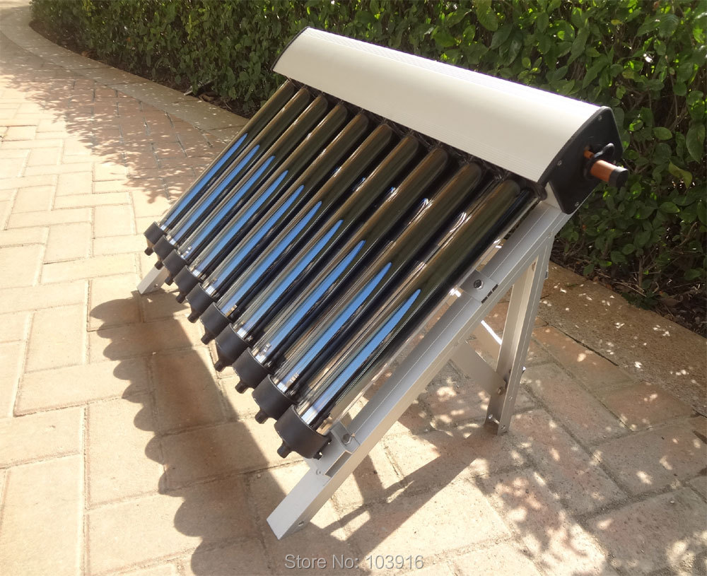 1 conjunto de coletor solar de aquecedor de agua quente solar 10 tubos evacuados tubos de