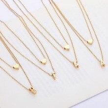 Двухслойное ожерелье, модное дамское ожерелье, ожерелье с подвеской в форме сердца, европейский и американский стиль