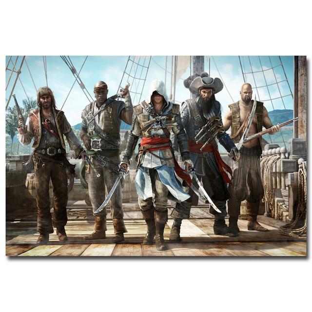 Шелковый Плакат Гобелен Кредо Убийцы Assassins Creed в ассортименте 4