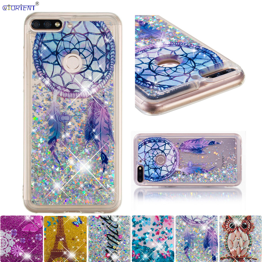 Candid For Huawei Honor 7c Pro Y7 Prime 2018 Glitter Case Nova 2 Lite Lnd-l29 Ldn-lx2 Ldn L21 Tl10 L01 Lx3 Cute Bling Liquid Full Cover High Quality And Inexpensive Fitted Cases Phone Bags & Cases