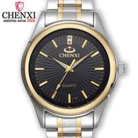 CHENXI Luxury silver Men Watches Unique Business Dress Wristwatch for Man Woman Lover's Clock Waterproof Male Female reloj mujer