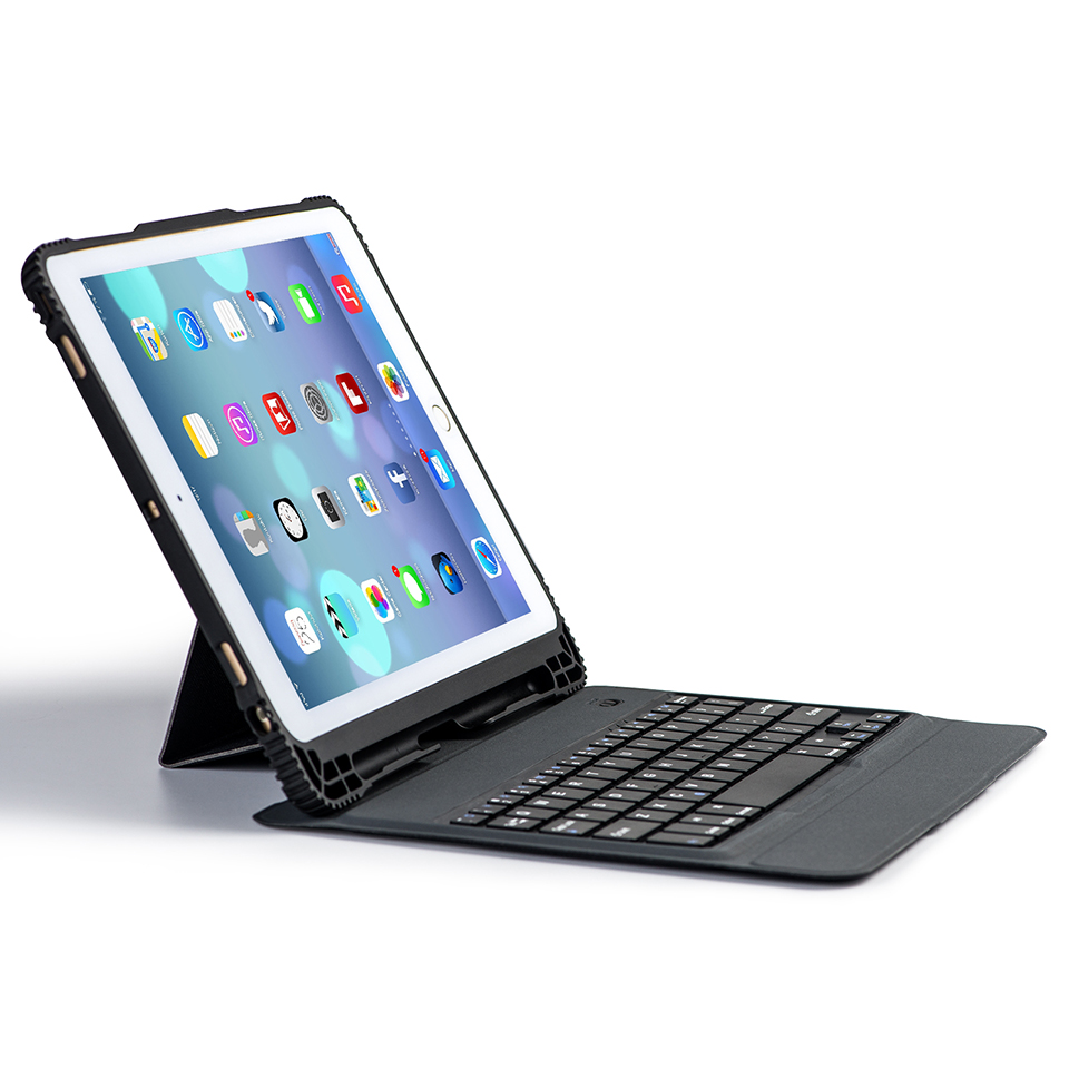 Russian/Hebrew/Spanish Separable Wireless Bluetooth Keyboard Stand Leather Funda Case For Apple iPad 9.7 2017 /Pro 9.7 /Air/Air2 removable wireless bluetooth russian hebrew spanish keyboard stand pu leather case for samsung galaxy tab a 9 7 t555 t551 t550