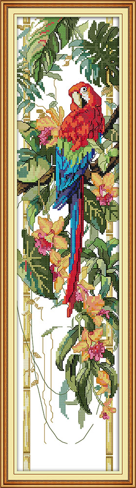 Ini Scarlet Macaw Home Decoration Cross Stitch Kit Embroidery Needlework Sets Dmc Embroidery Floss In Thread