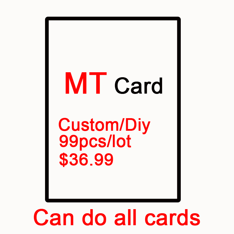 DIY 99pcs/lot Customized Magical Proxy MG Cards, White Black Boarder, Modern Master, Black P9 Lotus Dual Lands The Lion Recommen