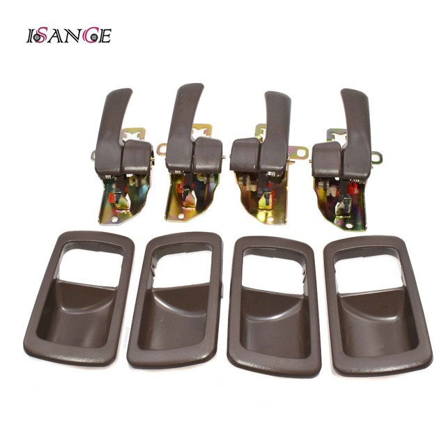 ISANCE 8pcs Brown Inside Door Handle Front Rear Left Right SET For Toyota Camry 1992 1993 1994 1995 1996 6920532070 6920532071