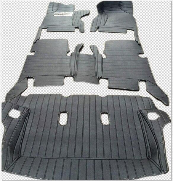 Plancher spécial tapis + tapis de coffre pour Droit/Gauche conduite à Toyota Fortuner 7 sièges 2018-2015 étanche tapis, livraison gratuite