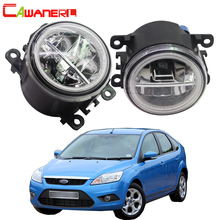 Cawanerl For Ford Focus MK2 MK3 2004 2015 Car LED Bulb 4000LM Front Fog Light Angel