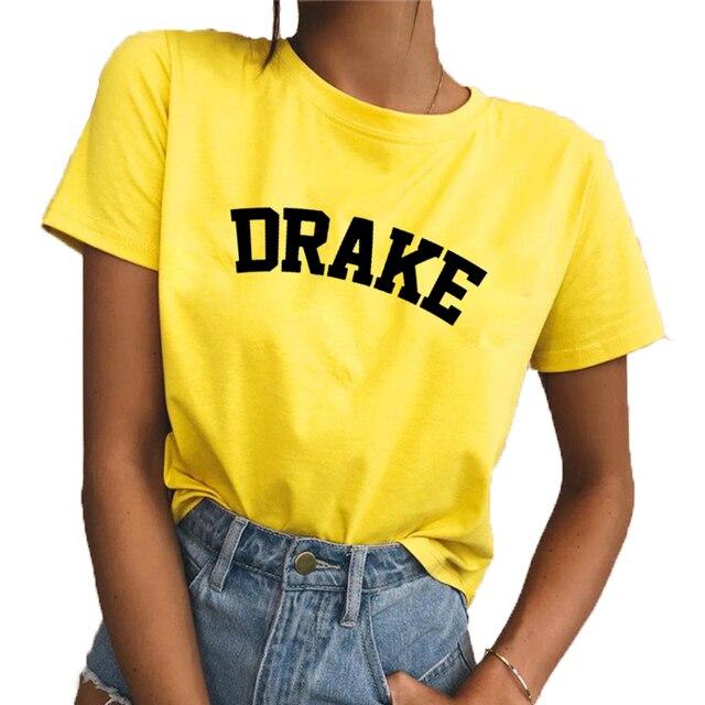 a04fed00 Drake Unisex Shirt Yellow Casual Tops T Shirt Short Sleeve Summer Outfits  Tees Fashion Drake T Shirt Letter Printed Fashion Tops