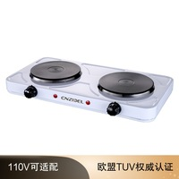 2000W Double head Double stove Double plate Electric Heating Furnace 110V Electrical Appliances for Small Hot Plates Electric