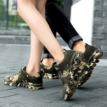 Autumn Spring Men's Women's Running Shoes Unisex Sport Outdoor Sneakers Breathable Women Camouflage green Walking Jogging Shoes 6