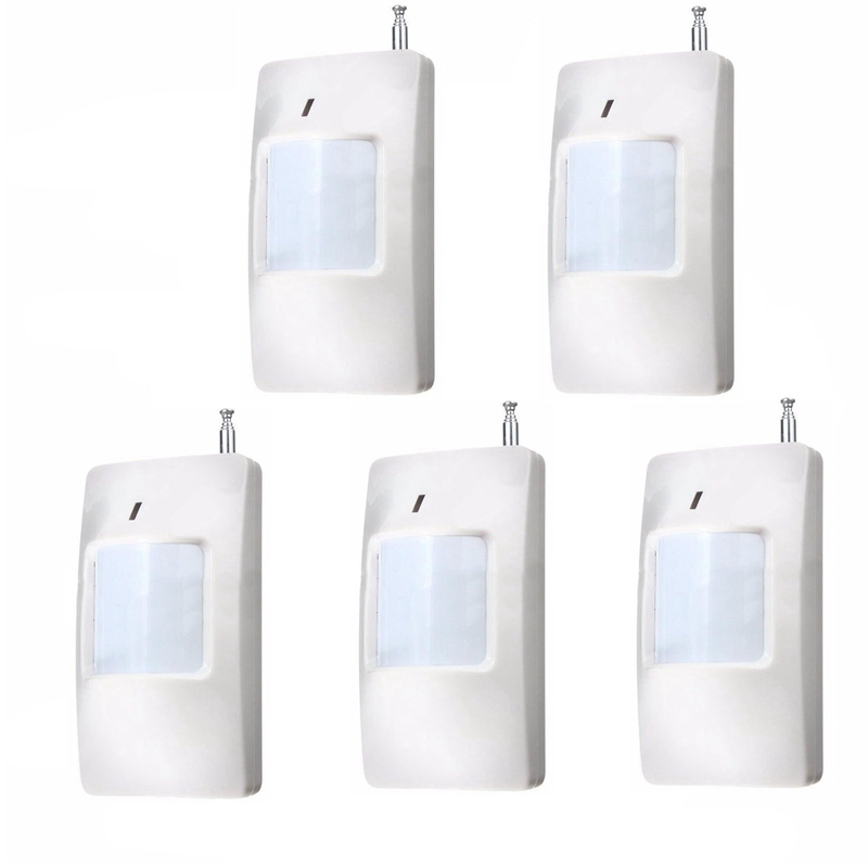5Pcs Wireless 433MHz Infrared Alarm Sensor Detector PIR Motion Detector For GSM Burglar Alarm System new classic wall light vintage creative iron lamps american style iron antique wall lamp bed room lighting top glass home decor