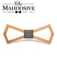 Mahoosive 2017 Neue Design Handgemachte Hartholz Herren Holz Bogen Krawatten Gravatas Corbatas Business Party Krawatten Für Männer Holz Krawatten