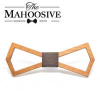 Mahoosive 2017 New Design Handmade Hardwood Mens Wooden Bow Ties Gravatas Corbatas Business Party Ties For Men Wood Ties
