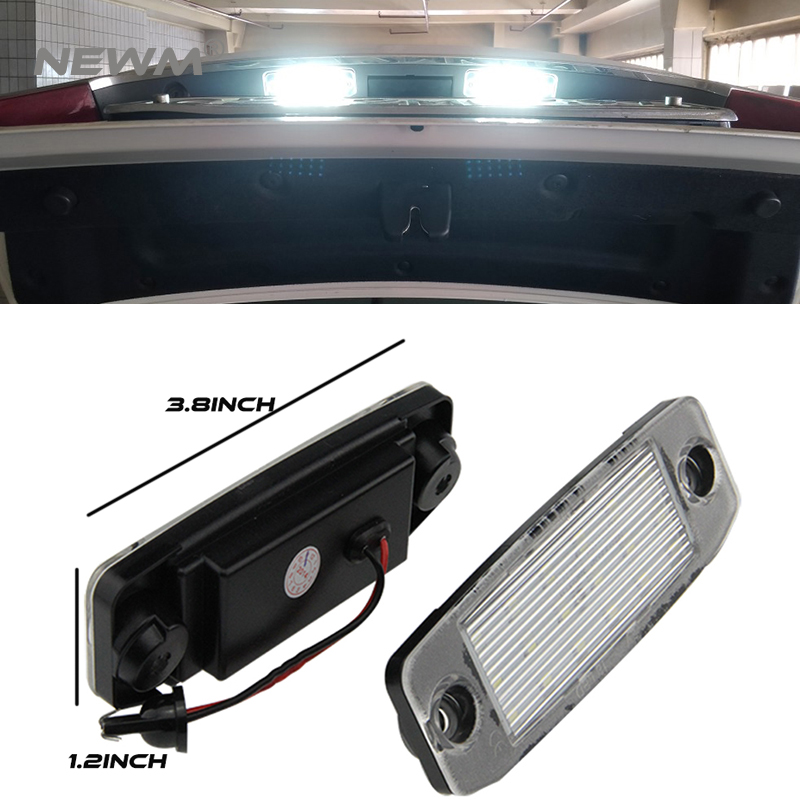 2Pcs Car LED License Plate Lights 12V SMD LED Number Plate Lamp Bulb Kit for Hyundai Sonata YF 10MY GF 10 Accessories 2pcs car led number license plate lights lamp frame 12v white smd led bulb kit for chevrolet cruze camaro 2010 2014 accessories