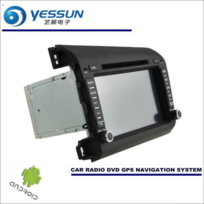 Honda Civic 2019 Indash Navigation Android System: YESSUN Car Android Navigation System For Honda CIVIC 2011