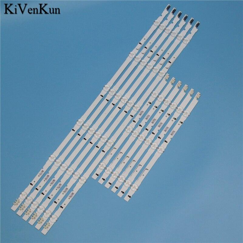 9 Lamps LED Backlight Strip For Samsung UE48J5100AK UE48J5100AW UE48J5100AU UE48J5150AS UE48J5500AK Bars Kit Television LED Band