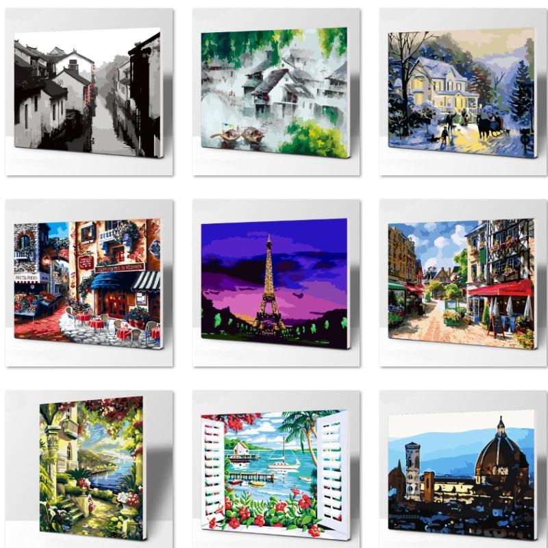 ツ)_/¯El sofel Torre number pintura al óleo cuadros de pared para ...