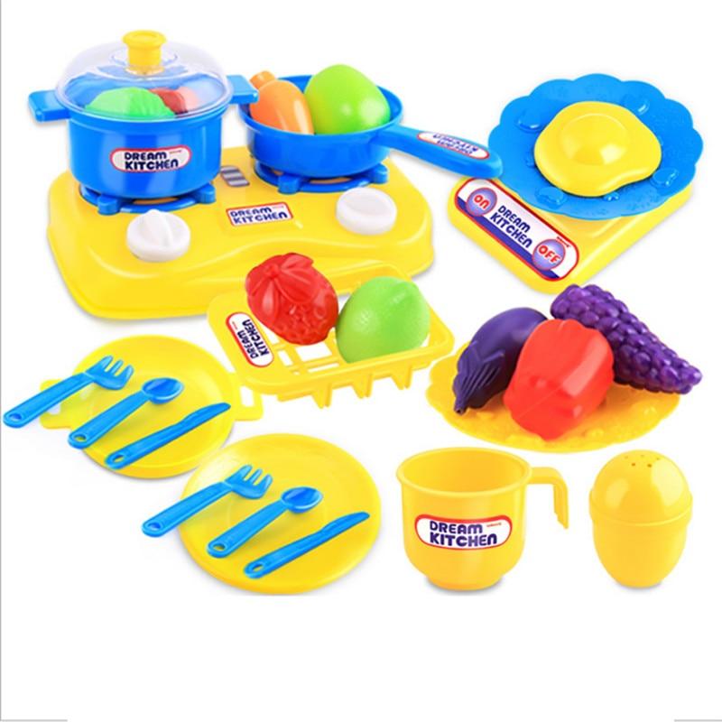 26pcs Plastic Kids Children Kitchen Utensils Food Cooking ...