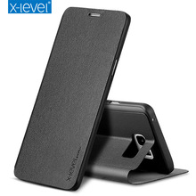 ultra thin Leather Case For Samsung Galaxy S9 Flip Case Plus