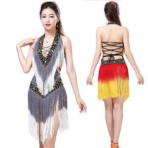 Image 2 - 2019 New Style Sexy Dress for Latin Ballroom Tassel Latin Competition Dress Salsa Performance Rumba Samba Tango Dance Dress